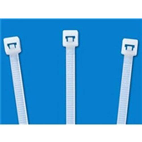 """8"""" 40 lb. Tensile Strength Nylon Natural Cable Ties (1000/bag)"""