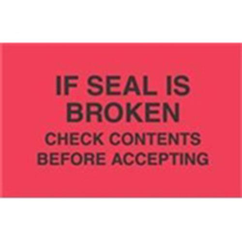 "#DL3091  3 x 10""  Do Not Break Down Skid (Red/Black) Label"
