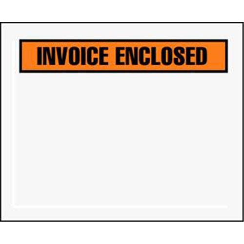 "4 1/2 x 5 1/2"" Panel Face Invoice Enclosed Envelope (1000/Case)"