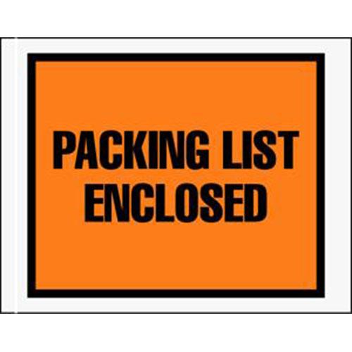 """4 1/2 x 6"""" Full Face Packing List Envelope (1000/Case)"""