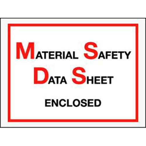 "6 1/2 x 5"" Material Safety Data Sheet Enclosed Envelope (1000/Case)"