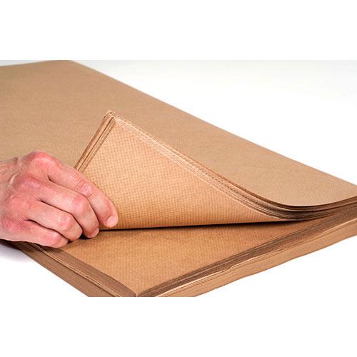 "24"" x 300' 60# Indented Kraft Paper Rolls"