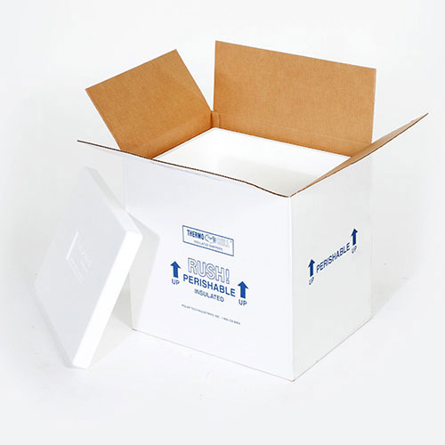 """6 x 4 1/2 x 3"""" Insulated Shipper - 1"""" Thickness"""