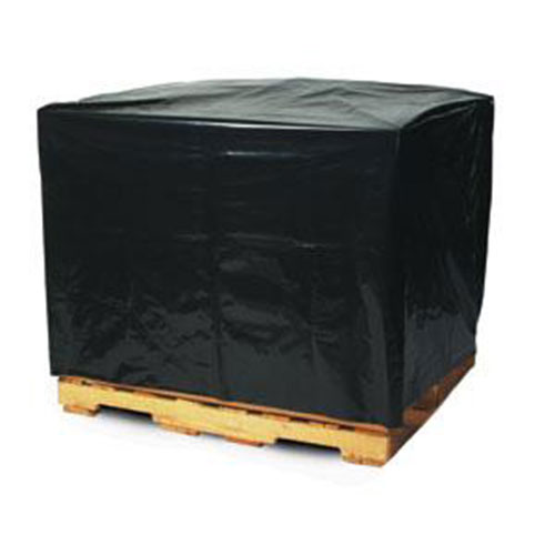 """51 x 49 x 73"""" 3 Mil Black Pallet Covers/Bin Liners with UVI Additive (50/case)"""