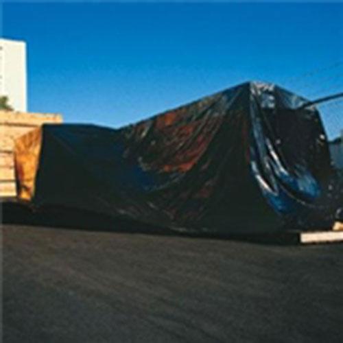 6' x 100' 6 Mil Heavy-Duty Black Poly Sheeting