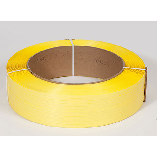 "1/2"" x 7,200' .031 600# 16 x 6 Yellow Machine Grade Poly Strapping"
