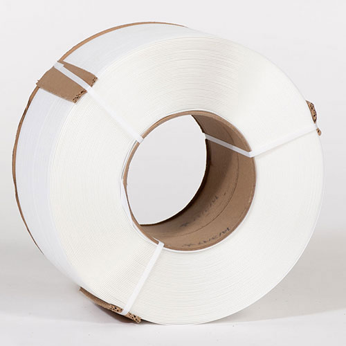"3/8"" X 12,900' .024 300# 8 x 8 White Machine Grade Poly Strapping"