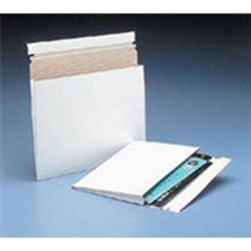 """10 x 7 3/4 x 1"""" #1G White Expand-A-Mailer™ Gusseted Paperboard Mailer (100/Cs)"""