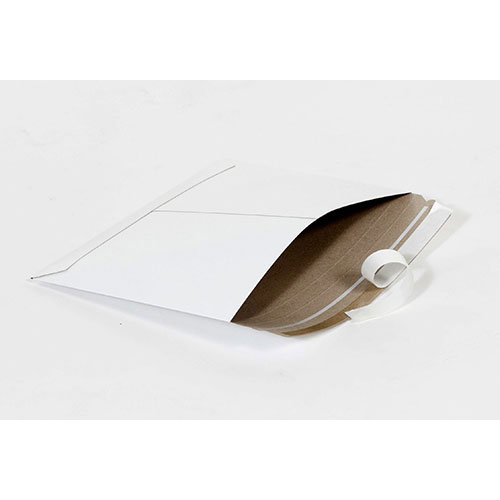 "14 7/8 x 11 7/8""  #15SL White Side-Loading Self-Seal Stayflats® Lite Mailer (200/Case)"