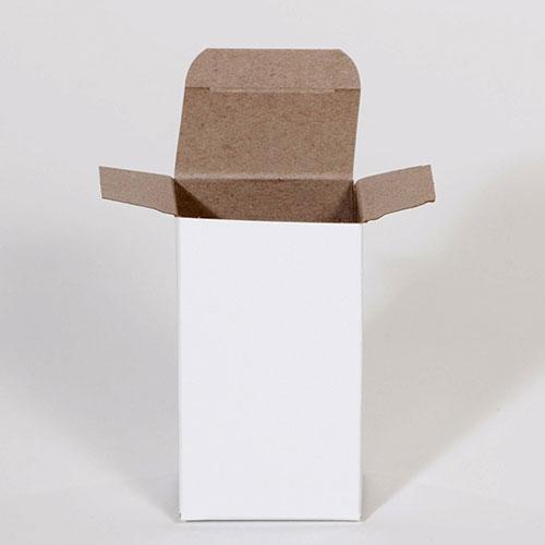 "3 x 3 x 4"" White Reverse Tuck Folding Carton (500/case)"
