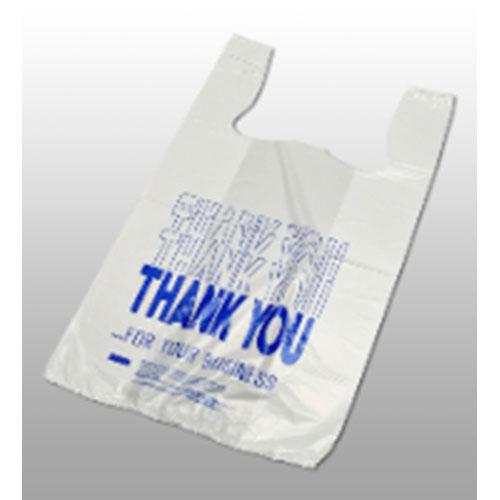 """Thank You"" Pre-printed T-Shirt Bags 11 1/2 x 6 1/2 x 21 1/2"" (1000/case)"